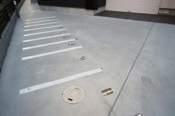 Grand jete売布の駐車場